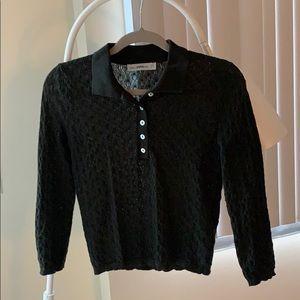 Zara 3/4 sleeve polo shirt